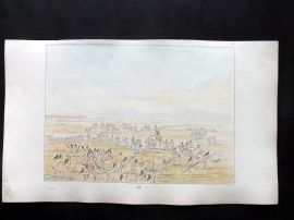 Catlin 1857 HCol North American Indian Print. Mandan boys in sham fight 57